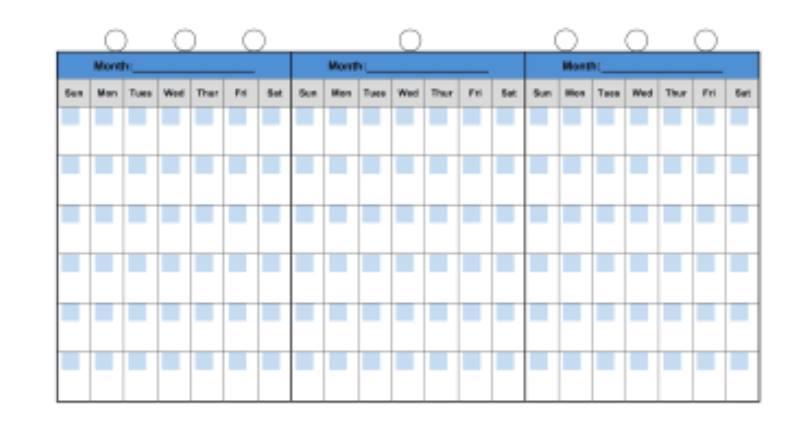 календарь пребывания