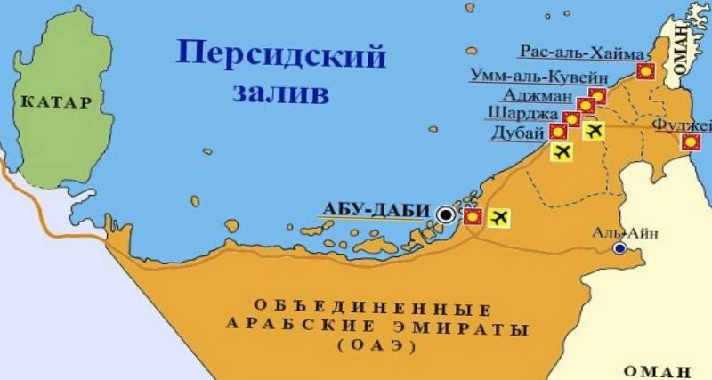 абудаби на карте