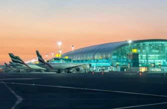 аэропорт на закате